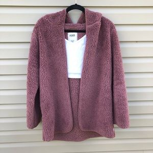 VS PINK Sherpa Cardigan with hood